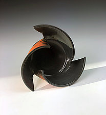 Spiral Vase by Thomas Harris (Ceramic Vessel)
