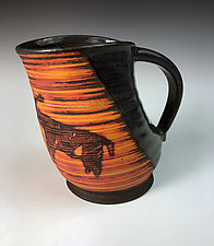 Petroglyph Mug - Stag by Thomas Harris (Ceramic Mug)
