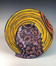 The Industrial Petroglyph by Thomas Harris (Ceramic Wall Platter)