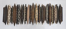 Domestic Markings 41 by Kelly Jean Ohl (Ceramic Wall Sculpture)