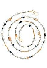 Azure Necklace by Julie Cohn (Bronze & Stone Necklace)