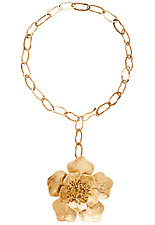 Peony Breco Bronze Necklace by Julie Cohn (Bronze Necklace)