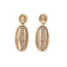 Bronze Lega Labradorite Earrings by Julie Cohn (Gold, Bronze & Stone Earrings)