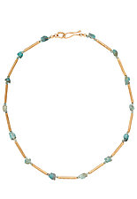 Cyprus Necklace by Julie Cohn (Bronze & Stone Necklace)