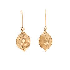 Spider Web Signet Bronze Earrings by Julie Cohn (Bronze Earrings)