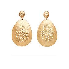Pointillist Bronze Earrings by Julie Cohn (Bronze Earrings)
