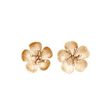 Cherry Blossom Bronze Earrings by Julie Cohn (Bronze Earrings)