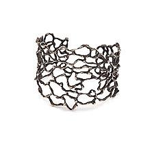 Sterling Sea Flora Cuff Bracelet by Julie Cohn (Silver Bracelet)