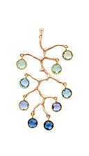 Staghorn Ombre Earrings by Julie Cohn (Bronze & Stone Earrings)
