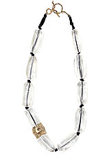 Ice Crystal Necklace by Julie Cohn (Bronze & Beaded Necklace)