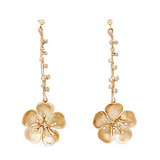 Cherry Blossom Eve Bronze Earrings by Julie Cohn (Bronze Earrings)