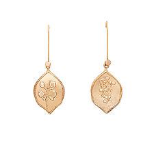 Botanical Signet Bronze Earrings by Julie Cohn (Bronze Earrings)