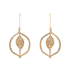Magnolia Signet Bronze Earring by Julie Cohn (Bronze Earrings)