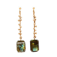 Eve Bronze Labradorite Earrings by Julie Cohn (Bronze & Stone Earrings)