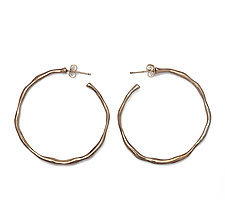 Bronze Organic Hoop Earrings by Julie Cohn (Gold & Bronze Earrings)
