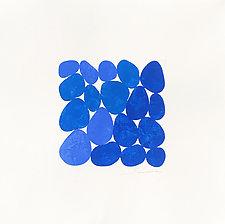 Summer Ocean Blues IV by Nancy Simonds (Watercolor Painting)