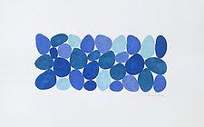Blues Afloat I by Nancy Simonds (Watercolor Painting)