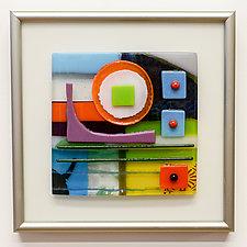 Little Gem V by Mary Johannessen (Art Glass Wall Sculpture)