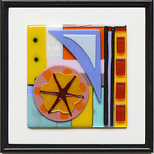 Hold That Thought III by Mary Johannessen (Art Glass Wall Sculpture)