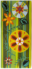 Fairy Forest: Sunny Day by Mary Johannessen (Art Glass Wall Sculpture)