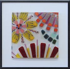 Blossoms, Mini Marigold by Mary Johannessen (Art Glass Wall Sculpture)