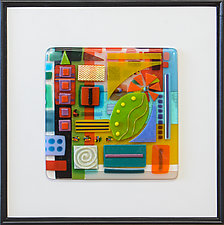 It's Complicated 4 by Mary Johannessen (Art Glass Wall Sculpture)