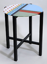 Red Polka Dots Tops and Tables by Mary Johannessen (Art Glass Side Table)
