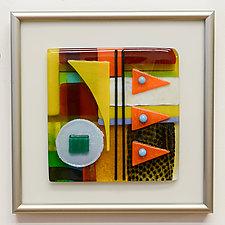 Little Gem III by Mary Johannessen (Art Glass Wall Sculpture)