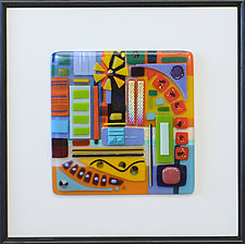 It's Complicated 2 by Mary Johannessen (Art Glass Wall Sculpture)