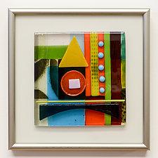 Little Gem VI by Mary Johannessen (Art Glass Wall Sculpture)