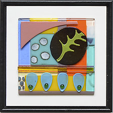 Hold That Thought I by Mary Johannessen (Art Glass Wall Sculpture)