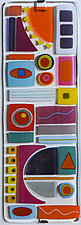 Heat of the Day by Mary Johannessen (Art Glass Wall Sculpture)