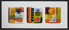 Sunny Day Trio by Mary Johannessen (Art Glass Wall Sculpture)