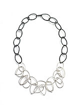Ayanna Necklace by Megan Auman (Silver & Steel Necklace)