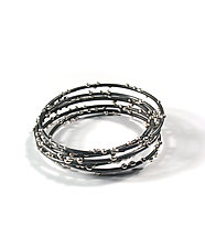 Silver on Steel Bracelets by Megan Auman (Silver & Steel Bracelets)