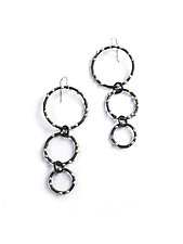 DeFeo Earrings by Megan Auman (Silver & Steel Earrings)