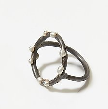 Silver on Steel Circle Ring by Megan Auman (Silver & Steel Ring)