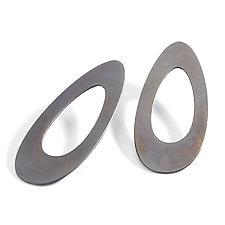 Egg Post Earrings by Maia Leppo (Steel Earrings)