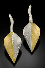 Gold & Silver Leaf Earrings by Rosario Garcia (Gold & Silver Earrings)