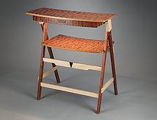 Standing/Sitting  Scissor Desk by Robert Krantz (Wood Desk)