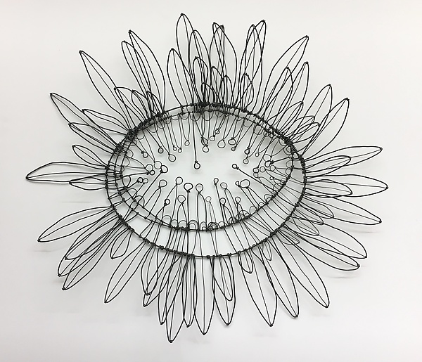 Giant Sunflower Wire Wall Sculpture