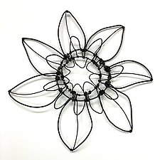 Wire Bloomer 10 by Barbara Gilhooly (Metal Wall Sculpture)