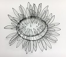 Giant Sunflower Wire Wall Sculpture by Barbara Gilhooly (Metal Wall Sculpture)