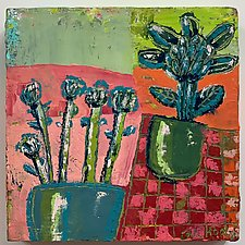 Plants in Pots by Barbara Gilhooly (Oil Painting)