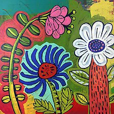 Garden Trio by Barbara Gilhooly (Acrylic Painting)