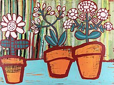 Flower Pots by Barbara Gilhooly (Acrylic Painting)