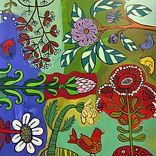Bloomer Garden Party II by Barbara Gilhooly (Acrylic Painting)