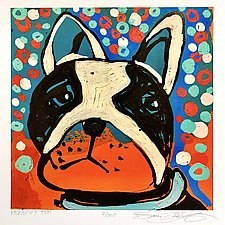 Frenchy Pup by Barbara Gilhooly (Giclee Print)