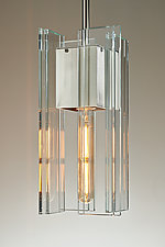 Contemporary LED Pendant Light by Sidney Hutter (Art Glass Pendant Lamp)
