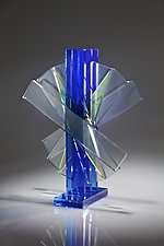 Shifting Transmission No.4 by Sidney Hutter (Art Glass Sculpture)